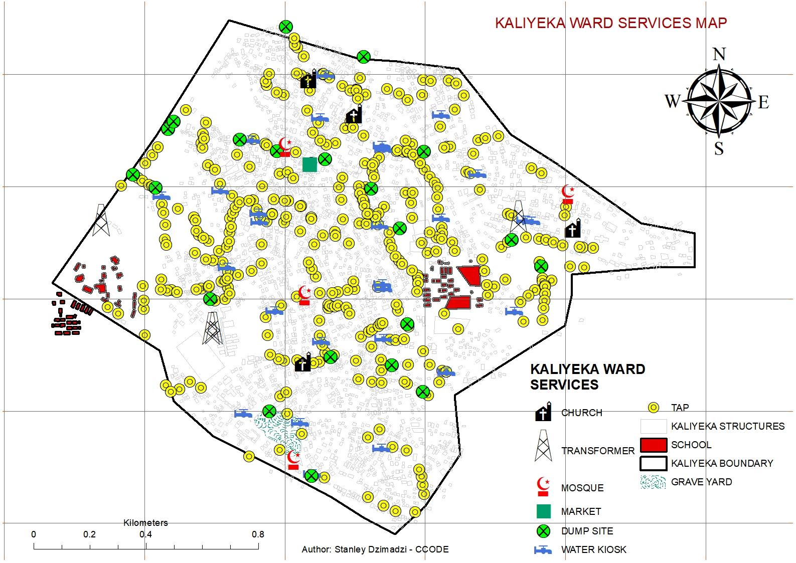 KALIYEKA SERVICES MAP